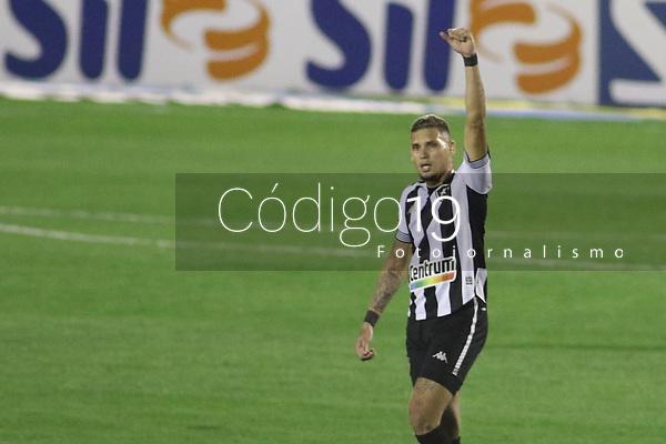 Campinas (SP), 18/08/2021 - Rafael Navarro comemora gol do Botafogo. Partida entre Guarani e Botafogo válida pelo Campeonato Brasileiro da Série B no estádio Brinco de Ouro em Campinas, interior de São Paulo, nesta quarta-feira (18).
