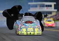 Oct. 1, 2011; Mohnton, PA, USA: NHRA funny car driver Tony Pedregon during qualifying for the Auto Plus Nationals at Maple Grove Raceway. Mandatory Credit: Mark J. Rebilas-