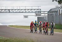 breakaway group at the Imola Race Circuit<br /> <br /> Men's Elite Road Race from Imola to Imola (258km)<br /> <br /> 87th UCI Road World Championships 2020 - ITT (WC)<br /> <br /> ©kramon