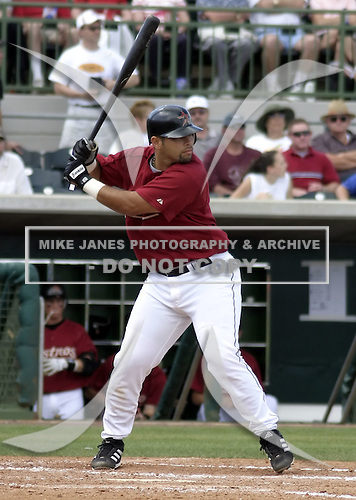 March 26, 2004:  Catcher Raul Chavez of the Houston Astros organization during Spring Training at Osceola County Stadium in Kissimmee, FL.  Photo copyright Mike Janes/Four Seam Images
