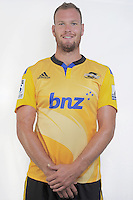 James Broadhurst. Hurricanes Super Rugby official headshots at Rugby League Park, Wellington, New Zealand on Friday, 24 January 2014. Photo: Dave Lintott / lintottphoto.co.nz