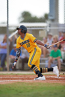 Joe Gray Jr (10) while playing for Canes National based out of Fredericksburg, Virginia during the WWBA World Championship at the Roger Dean Complex on October 21, 2017 in Jupiter, Florida.  Joe Gray Jr is an outfielder from Hattiesburg, Mississippi who attends Hattiesburg High School.  (Mike Janes/Four Seam Images)