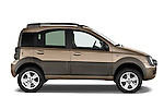 Passenger side profile view of a 2009 Fiat Panda 5 Door 4x4.