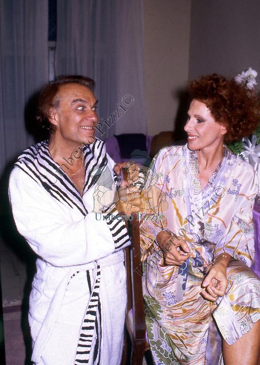 ORNELLA VANONI CON GIORGIO ALBERTAZZI<br /> TEATRO ELISEO ROMA 1986