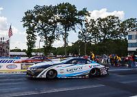 Jun 9, 2017; Englishtown , NJ, USA; NHRA pro stock driver Tanner Gray during qualifying for the Summernationals at Old Bridge Township Raceway Park. Mandatory Credit: Mark J. Rebilas-USA TODAY Sports