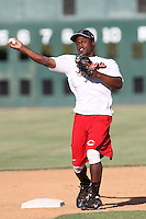Josef Terry #6 of the Bakersfield Blaze takes infield before a game against the Lancaster JetHawks at Clear Channel Stadium on May 7, 2012 in Lancaster,California. (Larry Goren/Four Seam Images)