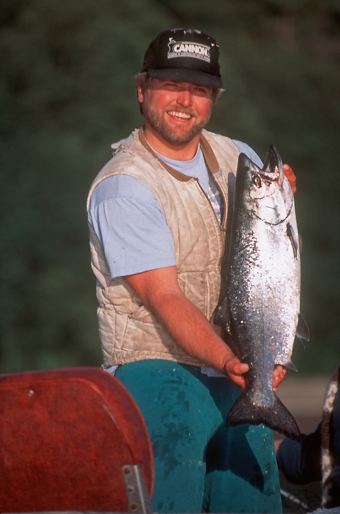King Salmon, Puget Sound, Salmon Fisherman, Oncorhynchus tshawytscha, Washington State, Ernie Perlath, ..