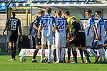 Rudelbildung bei den Mannschaften beim Spiel in der 3. Liga, SV Waldhof Mannheim - 1. FC Magdeburg.<br /> <br /> Foto © PIX-Sportfotos *** Foto ist honorarpflichtig! *** Auf Anfrage in hoeherer Qualitaet/Aufloesung. Belegexemplar erbeten. Veroeffentlichung ausschliesslich fuer journalistisch-publizistische Zwecke. For editorial use only. DFL regulations prohibit any use of photographs as image sequences and/or quasi-video.