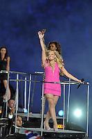 Spice Girls.Emma Bunton aka Baby Spice (pink).Londra 12/08/2012 Olympic Stadium.London 2012 Olympic Games Closing Ceremony.Olimpiadi Londra 2012 Cerimonia d chiusura.Foto Insidefoto Giovanni Minozzi.