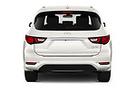 Straight rear view of 2020 Infiniti QX60 Pure 5 Door SUV Rear View  stock images
