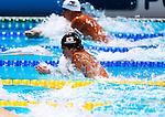 Akihiro Yamaguchi (JPN),<br /> JULY 28, 2013 - Swimming : Akihiro Yamaguchi of Japan competes in a heat of the Men's 100m breaststroke at the FINA Swimming World Championships in Barcelona, Spain.<br /> (Photo by Daisuke Nakashima/AFLO)