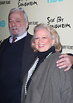 Stephen Sondheim & Barbara Cook  attending the Premiere Screening of HBO's 'Six By Sondheim' at The Museum Of Modern Art in New York City on November 18, 2013.