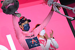 Race leader Egan Bernal (COL) Ineos Grenadiers retains the Maglia Rosa at the end of Stage 15 of the 2021 Giro d'Italia, running 147km from Grado to Gorizia, Italy and Slovenia. 23rd May 2021.  <br /> Picture: LaPresse/Gian Mattia D'Alberto | Cyclefile<br /> <br /> All photos usage must carry mandatory copyright credit (© Cyclefile | LaPresse/Gian Mattia D'Alberto)