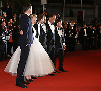 CLAES BANG, ELISABETH MOSS, DIRECTOR RUBEN OSTLUND, GUEST, DOMINIC WEST AND TERRY NOTARY - RED CARPET OF THE FILM 'THE SQUARE' AT THE 70TH FESTIVAL OF CANNES 2017