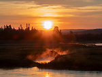 Sunrises are beautiful in Yellowstone.