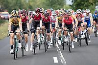 Egan Bernal (COL/Ineos) enjoying his company<br /> <br /> Stage 1: Clermont-Ferrand to Saint-Christo-en-Jarez (218km)<br /> 72st Critérium du Dauphiné 2020 (2.UWT)<br /> <br /> ©kramon