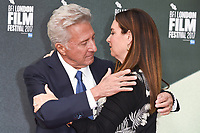 """Dustin Hoffman and wife Lisa<br /> arriving for the London Film Festival 2017 screening of """"The Meyerowitz Stories"""" at the Embankment Gardens Cinema, London<br /> <br /> <br /> ©Ash Knotek  D3319  06/10/2017"""