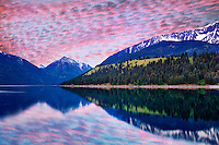 Wallowa Lake with sunrise. Oregon