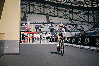 Michal Kwiatkowski (POL/SKY) on his first passage into the Orange Vélodrome during recon<br /> <br /> 104th Tour de France 2017<br /> Stage 20 (ITT) - Marseille › Marseille (23km)