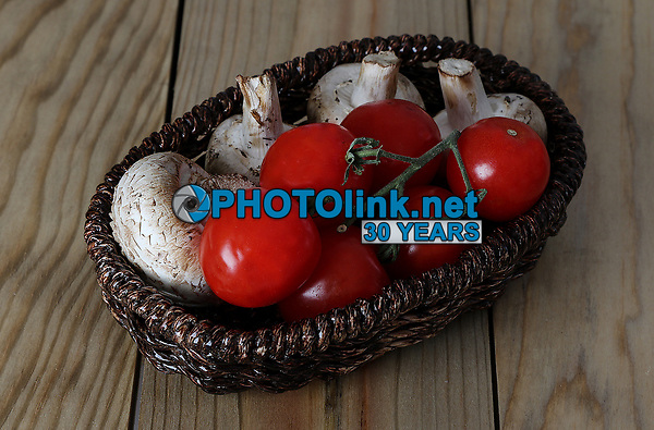 Mushrooms & Cherry Tomatoes<br /> Photo By Adam Scull/PHOTOlink.net