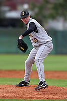February 27, 2010:  Pitcher Patrick (Pat) Schatz of the Iowa Hawkeyes during the Big East/Big 10 Challenge at Raymond Naimoli Complex in St. Petersburg, FL.  Photo By Mike Janes/Four Seam Images