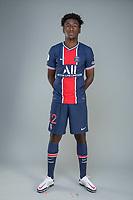 14th October 2020, Paris, France; Official League 1 player portrait for Paris Saint Germain;  NBANLE Thimothee