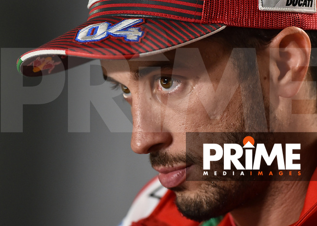 Andrea DOVIZIOSO, ITA, Ducati Team, DUCATI, MotoGP, during the GoPro British MotoGP at Silverstone Circuit, Towcester, England on 24 August 2018. Photo by Vince  Mignott.