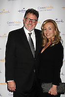 LOS ANGELES - JAN 14:  Jonathan Frakes, Genie Francis arrives at  the Hallmark Channel TCA Party Winter 2012 at Tournament of Roses House on January 14, 2012 in Pasadena, CA