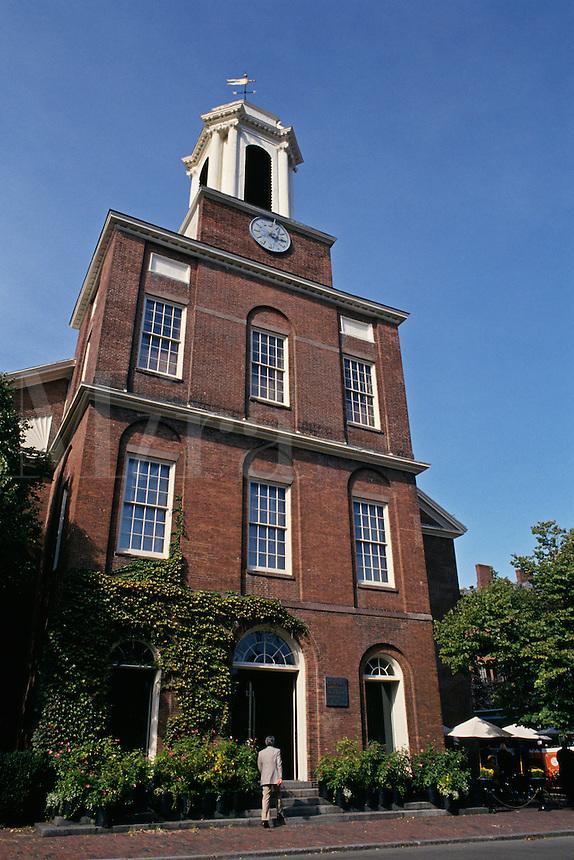 Massachusetts, Boston; Beacon Hill; Charles Street Meeting Hous