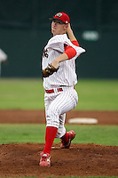 July 18th, 2007:  Logan Collier of the Batavia Muckdogs, Short-Season Class-A affiliate of the St. Louis Cardinals at Dwyer Stadium in Batavia, NY.  Photo by:  Mike Janes/Four Seam Images