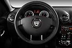 Steering wheel view of a 2010 Dacia Duster 4 Door SUV
