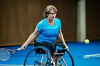 Alphen aan den Rijn, Netherlands, December 18, 2019, TV Nieuwe Sloot,  NK Tennis, Wheelchair womans doubles:  and Marlise Peters (NED)  <br /> Photo: www.tennisimages.com/Henk Koster