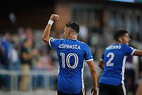SAN JOSE, CA - AUGUST 17: Cristian Espinoza #10 of the San Jose Earthquakes celebrates a goal during a game between Minnesota United FC and San Jose Earthquakes at PayPal Park on August 17, 2021 in San Jose, California.