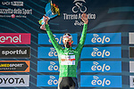 Tadej Pogacar (SLO) UAE Team Emirates wins Stage 4 and also takes over the mountains Maglia Verde of Tirreno-Adriatico Eolo 2021, running 148km from Terni to Prati di Tivo, Italy. 13th March 2021. <br /> Photo: LaPresse/Gian Mattia D'Alberto   Cyclefile<br /> <br /> All photos usage must carry mandatory copyright credit (© Cyclefile   LaPresse/Gian Mattia D'Alberto)