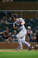 Scottsdale Scorpions outfielder Clint Frazier (15) at bat during an Arizona Fall League game against the Salt River Rafters on October 13, 2015 at Salt River Fields at Talking Stick in Scottsdale, Arizona.  Salt River defeated Scottsdale 5-3.  (Mike Janes/Four Seam Images)