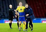 St Johnstone v Hibs…23.01.21   Hampden     BetFred Cup Semi-Final<br />Jason Kerr and Liam Craig celebrate at full time<br />Picture by Graeme Hart.<br />Copyright Perthshire Picture Agency<br />Tel: 01738 623350  Mobile: 07990 594431