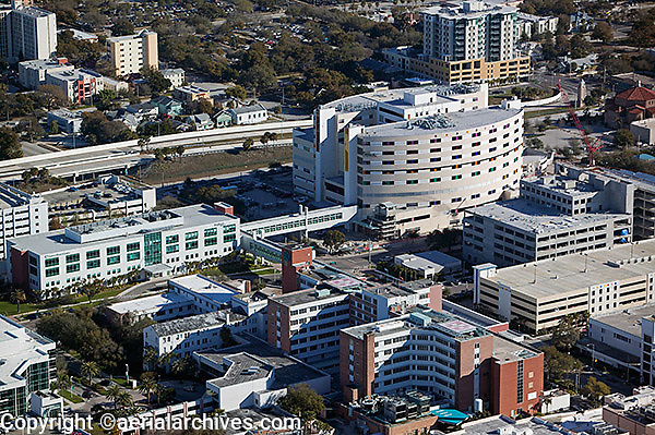 aerial photograph of the James Heart Center, St. Petersburg, Florida