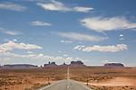 Monument Valley, Utah, red rock, road trip, Highway 163, Southwest America, U.S.A.,..