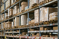 Warehouse storage of retail merchandise.