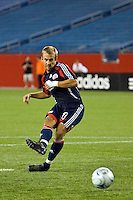 New England Revolution forward Taylor Twellman (20) during the penalty kick shootout. The New England Revolution defeated the Houston Dynamo 2-2 (6-5) in penalty kicks in the SuperLiga finals at Gillette Stadium in Foxborough, MA, on August 5, 2008.
