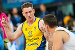Fundosa ONCE's player Terry Bywater and Real Madrid's player Jaycee Carroll talking before the 3 shot contest of Supercopa of Liga Endesa Madrid. September 24, Spain. 2016. (ALTERPHOTOS/BorjaB.Hojas)
