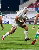 Friday 2nd October 2020 | Ulster Rugby vs Benetton Rugby<br /> <br /> Gareth Milasinovich on the attack during the PRO14 Round 1 clash between Ulster Rugby and Benetton Rugby at Kingspan Stadium, Ravenhill Park, Belfast, Northern Ireland. Photo by John Dickson / Dicksondigital