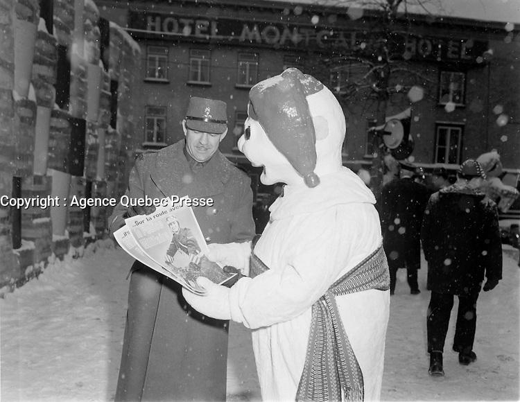 Canaval de Quebec, dans les anees 50<br /> , date inconnue<br /> <br /> <br /> PHOTO : : Agence Quebec Presse