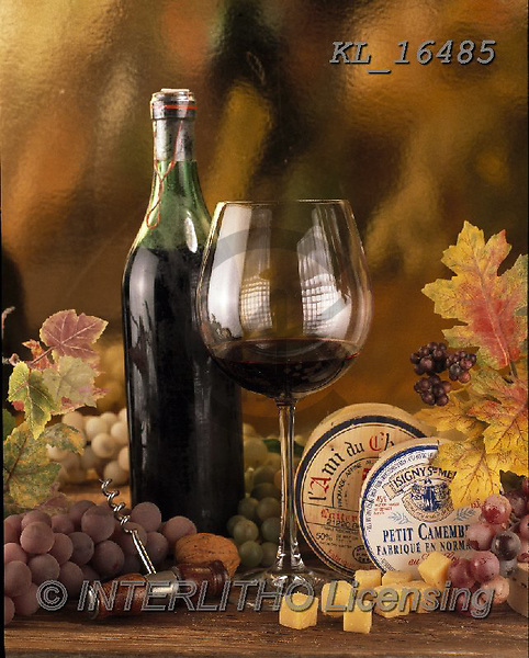 Interlitho-Alberto, STILL LIFE STILLEBEN, NATURALEZA MORTA, paintings+++++,wine, cheese,KL16485,#i#, EVERYDAY ,masculin,red wine,spirits