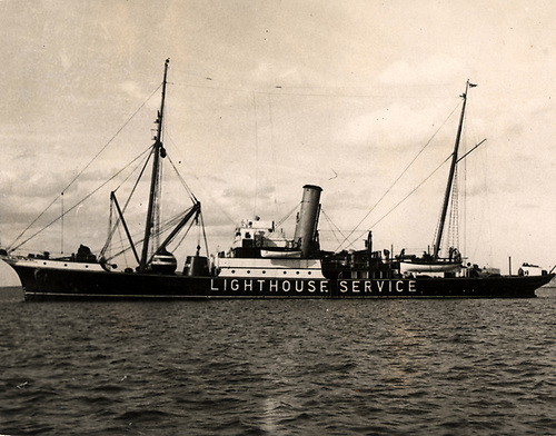 The lightship Isolda which was sunk by a German bomber on December 19th, 1940 with the loss of six lives