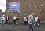Carlisle United 1 Newcastle United 1, 21/07/2007. Brunton Park, Pre-season Friendly. Fans gathering for a pre-season friendly between Carlisle United and Newcastle United at Cumbrian's Brunton Park ground. The match ended one goal each with Newcastle equalising Livesey's opener through Nolberto Solano in the last minute. During the 2007-08 season Carlisle played in League One, English football's third tier, while Newcastle were a top Premiership team. Photo by Colin McPherson.