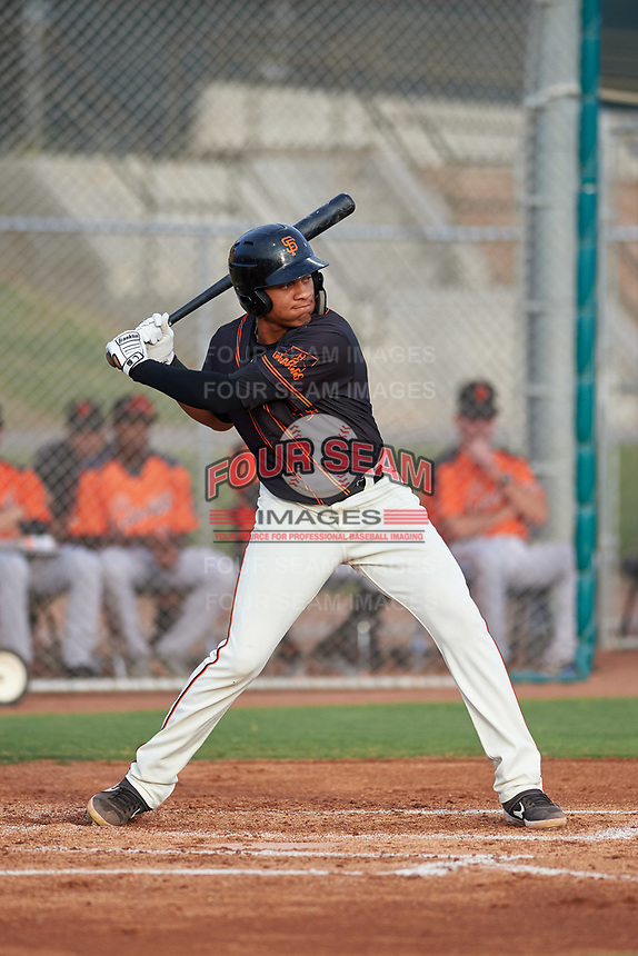 AZL Giants Black Bryan Hernandez (23) at bat during an Arizona League game against the AZL Giants Orange on July 19, 2019 at the Giants Baseball Complex in Scottsdale, Arizona. The AZL Giants Black defeated the AZL Giants Orange 8-5. (Zachary Lucy/Four Seam Images)