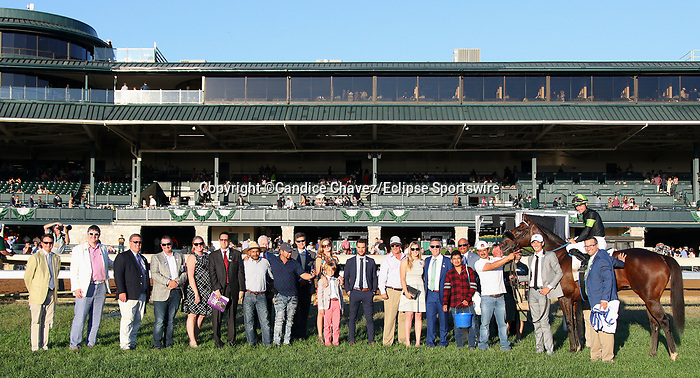 """October 05, 2019 : #5 Bowies Hero and jockey Flavien Prat win the 34th running of The Shadwell Turf Mile Grade 1 $1,000,000 """"Win and You're In Breeders' Cup Mile Division"""" for owner Agave Racing Stable, ERJ Racing LLC, Madaket Stables and trainer Philip D'Amato at Keeneland Racecourse in Lexington, KY on October 04, 2019.  Candice Chavez/ESW/CSM"""