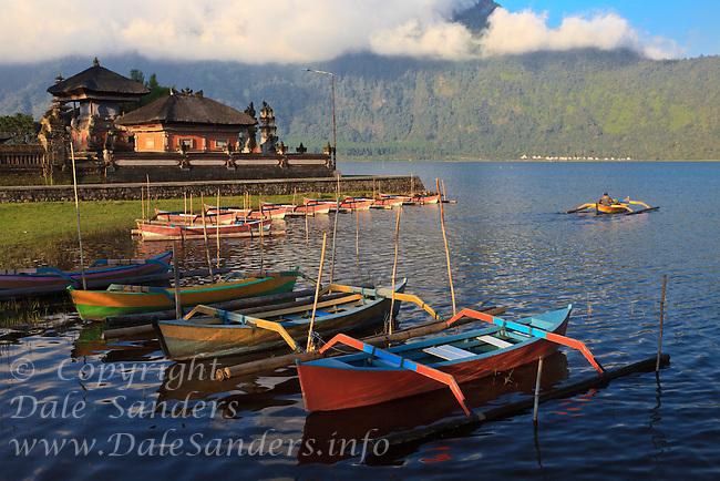 Ulan Danu Beratan Temple, a Balinese Hindu temple on Beratan Lake, Bali, Indonesia.