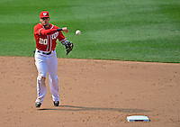 17 June 2012: Washington Nationals shortstop Ian Desmond in action against the New York Yankees at Nationals Park in Washington, DC. The Yankees defeated the Nationals 4-1 to sweep their 3-game series. Mandatory Credit: Ed Wolfstein Photo